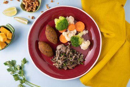 prato vegetariano para crianças