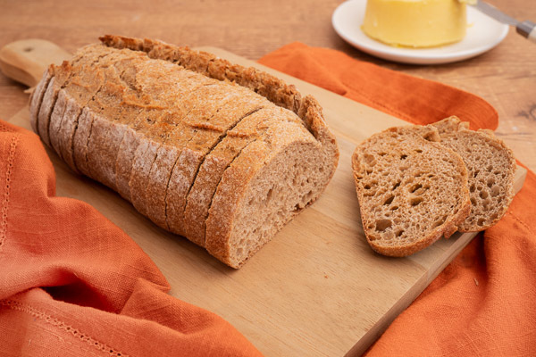 pão integral no cardápio de comida saudável