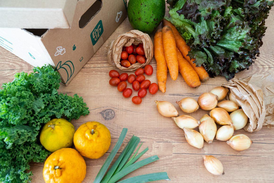 cesta de produtos orgânicos da liv up
