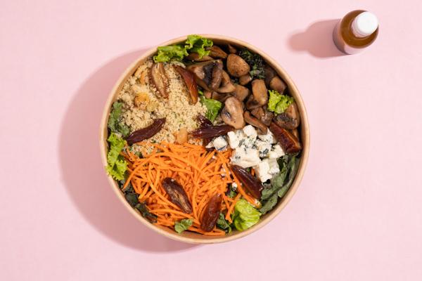 prato de um delivery de comida saudável