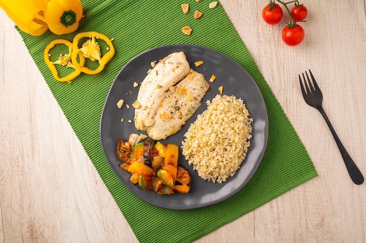jantar fitness com salmão