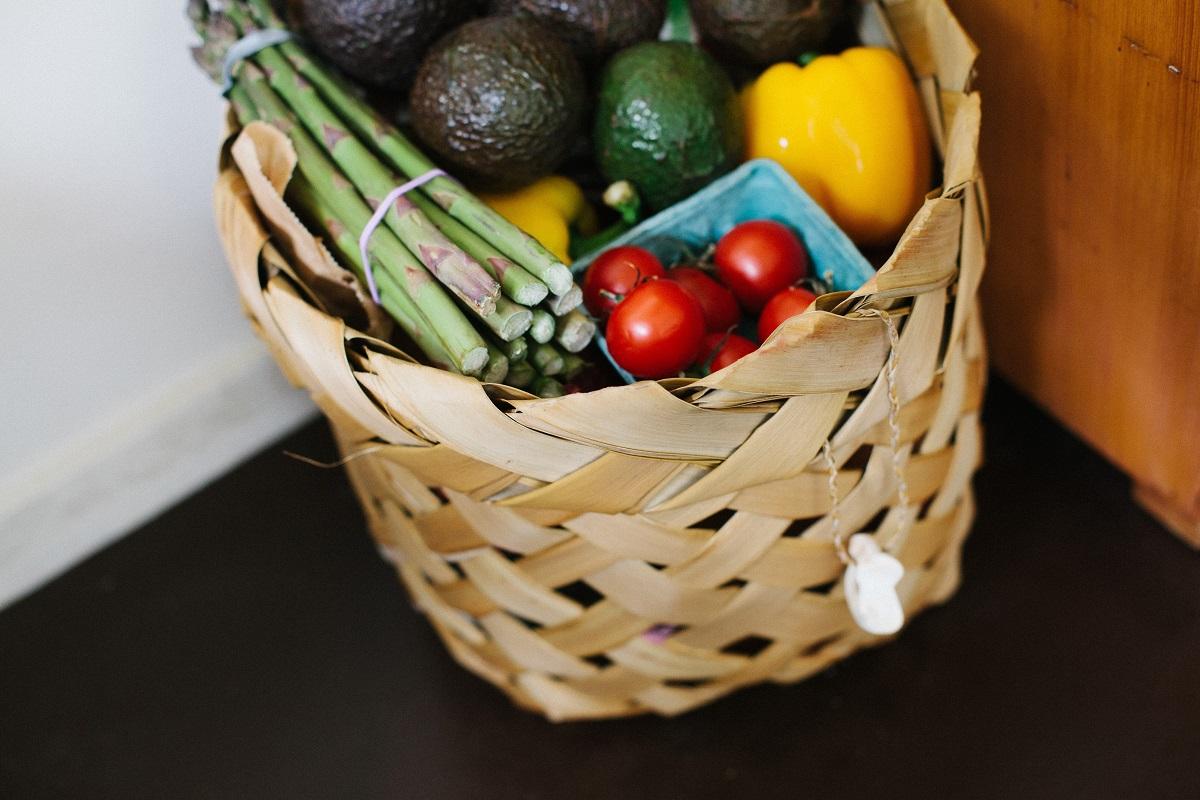 cesta de legumes
