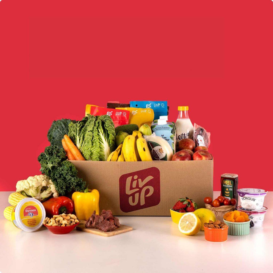 cesta de comida para receitas com poucos ingredientes